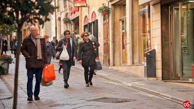 THE SHOPPING STREETS IN SASSARI